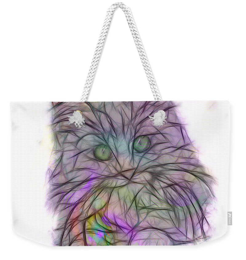 Affordable Art Weekender Tote Bag featuring the digital art Too Cute - Square Version by John Beck