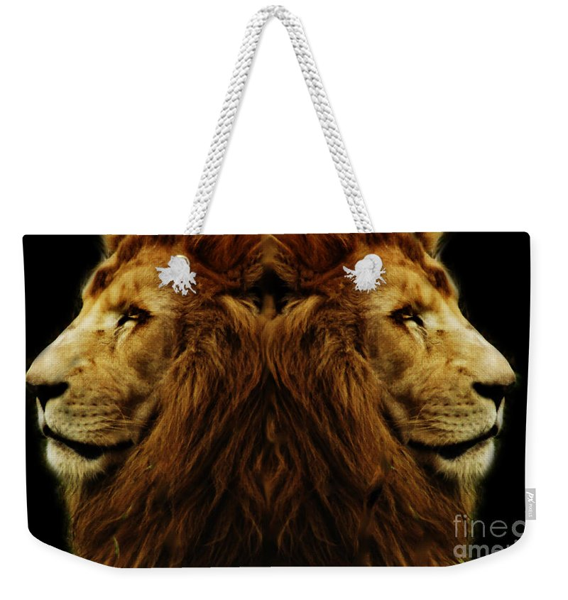 Alter Ego Weekender Tote Bag featuring the photograph Too Strong by Ben Yassa