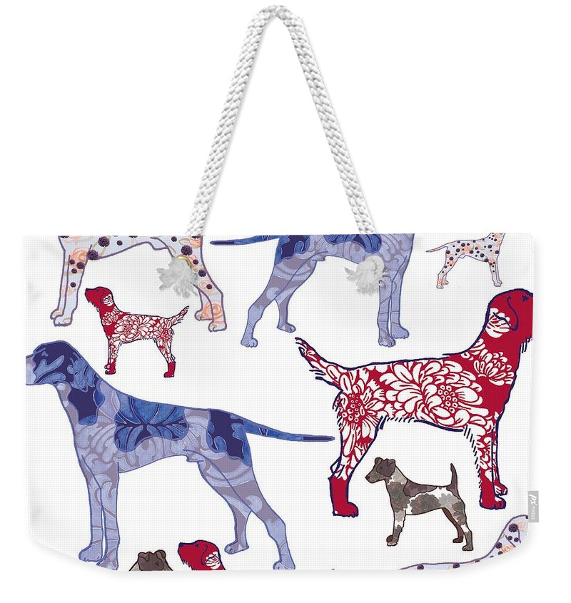 Dog Weekender Tote Bag featuring the digital art Top Dogs by Sarah Hough