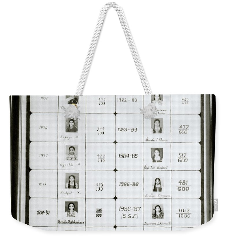 India Weekender Tote Bag featuring the photograph Top Notchers by Shaun Higson
