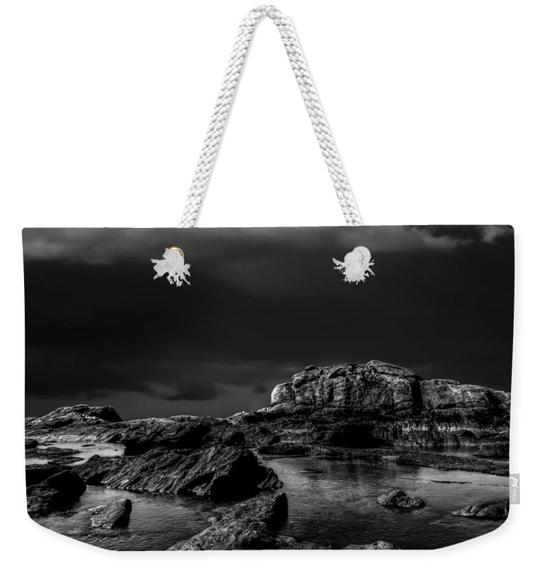 Landscape Weekender Tote Bag featuring the photograph Top Of The Falls by Bob Orsillo
