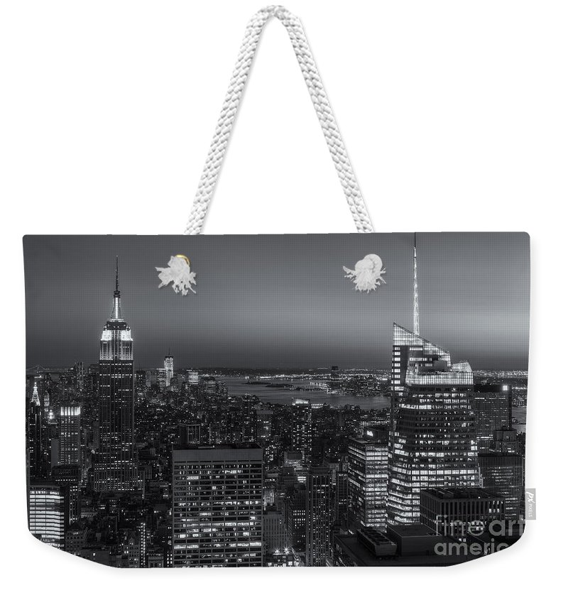 Clarence Holmes Weekender Tote Bag featuring the photograph Top Of The Rock Twilight V by Clarence Holmes