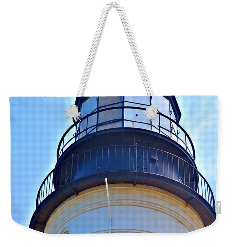 Portland Head Light Weekender Tote Bag featuring the photograph Top View Of Portland Head Light by Tara Potts