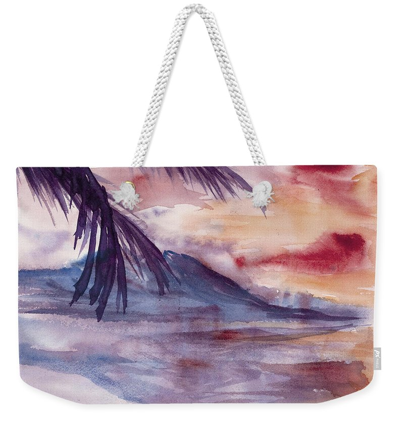 Abstract Weekender Tote Bag featuring the painting Topical Mood by Darice Machel McGuire