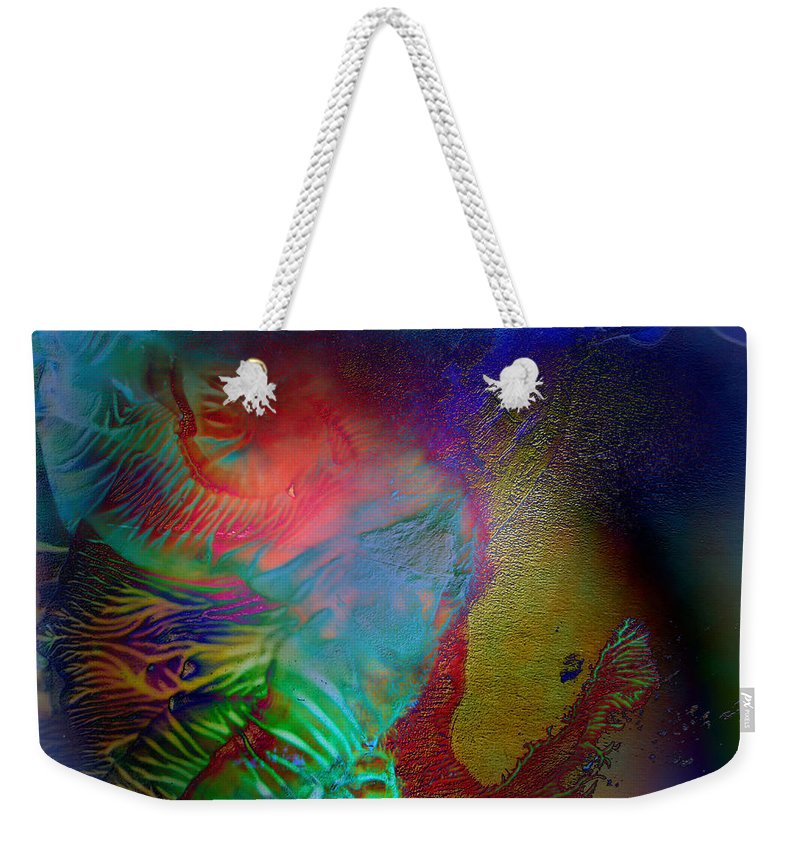 Surrealism Weekender Tote Bag featuring the digital art Topology Of Decalcomania by Otto Rapp