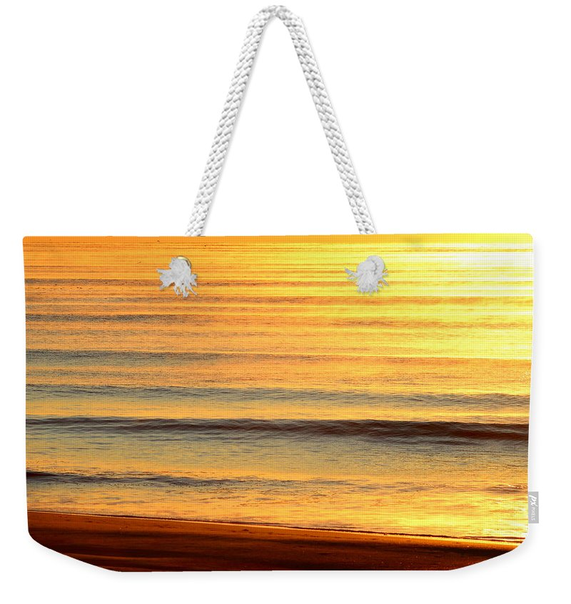 Topsail Weekender Tote Bag featuring the photograph Topsail Golden Mist by Rand Wall
