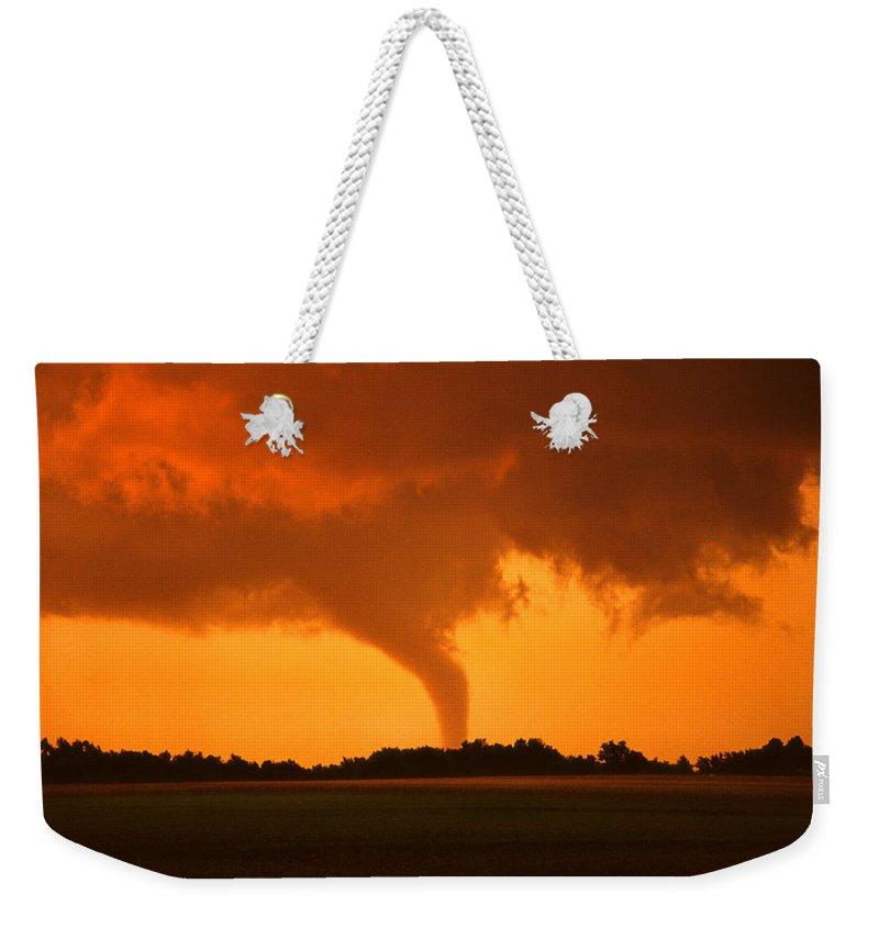 Tornado Weekender Tote Bag featuring the photograph Tornado Sunset by Jason Politte