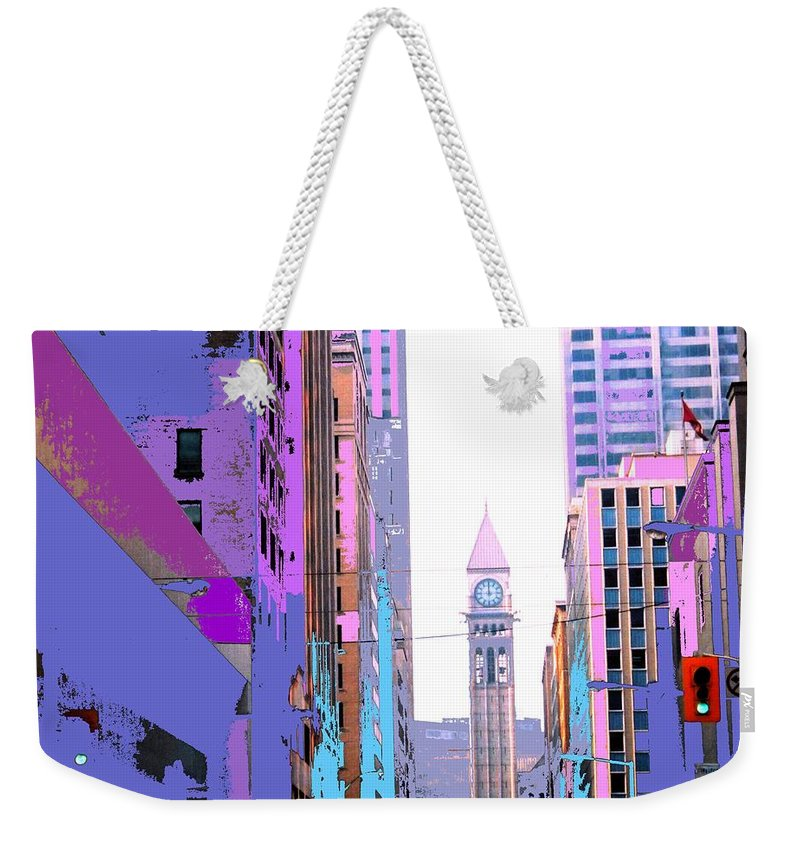 Bay Weekender Tote Bag featuring the photograph Toronto Old City Hall by Ian MacDonald