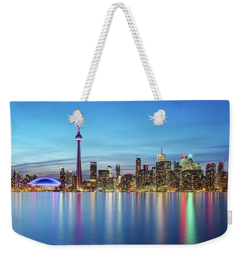 Tranquility Weekender Tote Bag featuring the photograph Toronto Skyline by Thomas Kurmeier