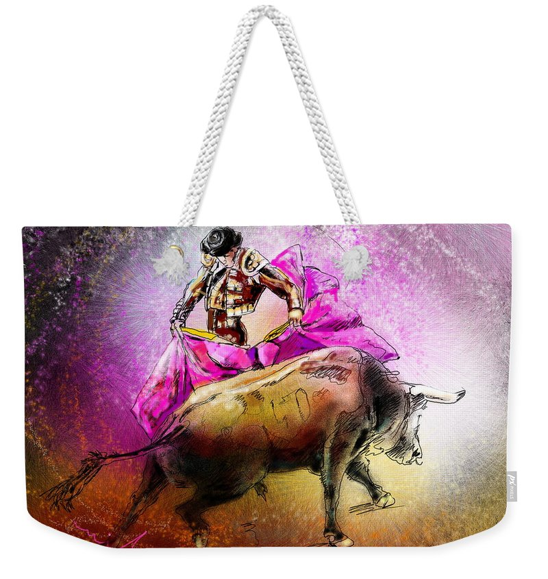 Animals Weekender Tote Bag featuring the painting Toroscape 38 by Miki De Goodaboom