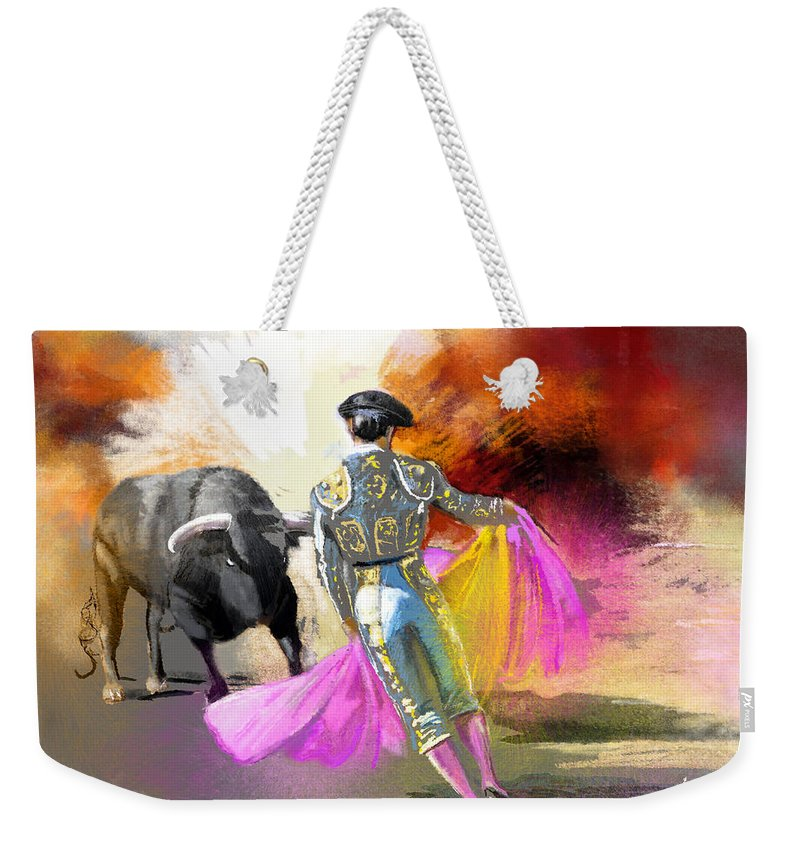 Animals Weekender Tote Bag featuring the painting Toroscape 43 by Miki De Goodaboom