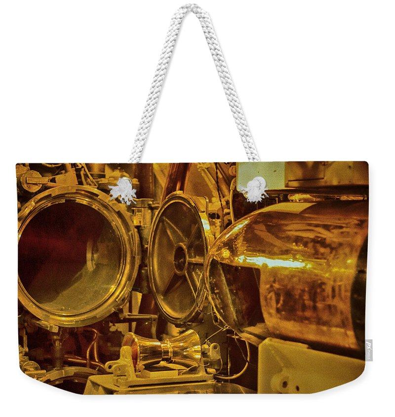 Torpedo Chamber Uss Bowfin Weekender Tote Bag featuring the photograph Torpedo Chamber Uss Bowfin by Douglas Barnard