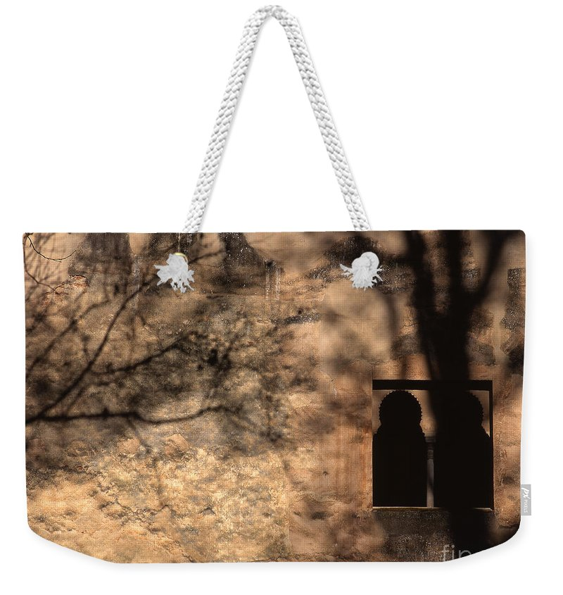 The Alhambra Weekender Tote Bag featuring the photograph Torre De Las Infantas In The Alhambra by Guido Montanes Castillo