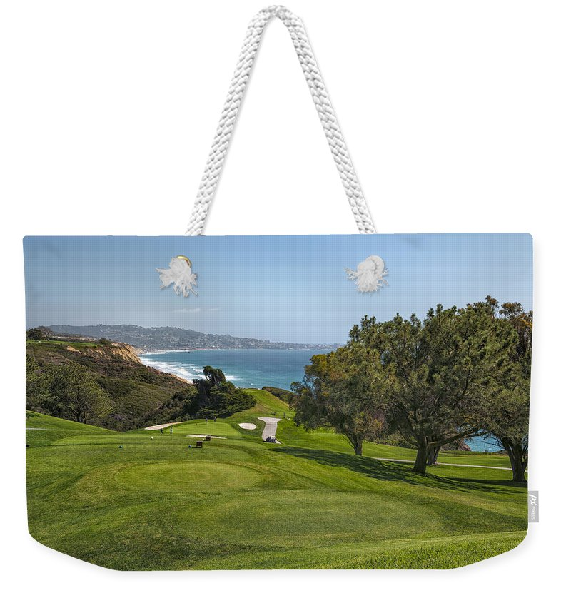 3scape Weekender Tote Bag featuring the photograph Torrey Pines Golf Course North 6th Hole by Adam Romanowicz