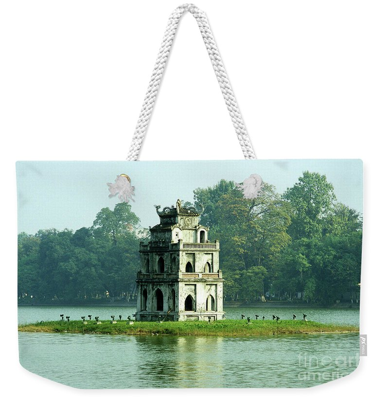 Vietnam Weekender Tote Bag featuring the photograph Tortoise Tower 01 by Rick Piper Photography