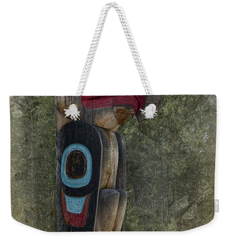 Totem Pole Weekender Tote Bag featuring the photograph Totem by David Arment