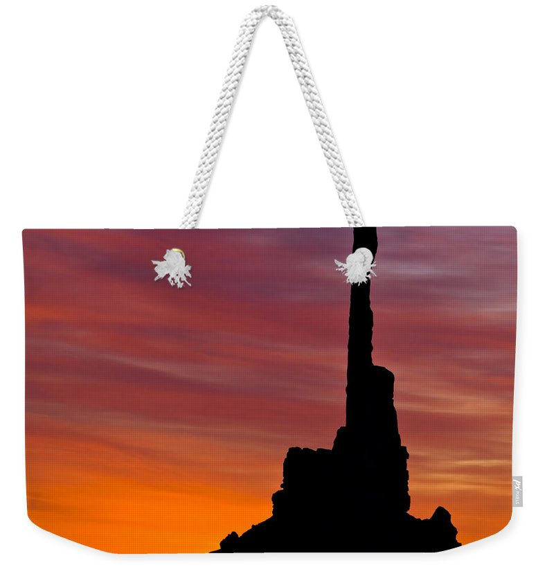 Totem Weekender Tote Bag featuring the photograph Totem Pole Sunrise by Susan Candelario