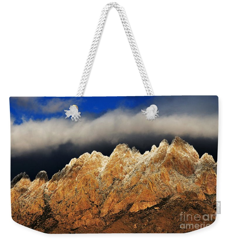 Las Cruces Weekender Tote Bag featuring the photograph Touching The Clouds by Vivian Christopher