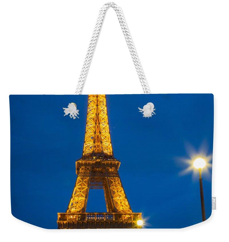 Eiffel Weekender Tote Bag featuring the photograph Tour Eiffel De Nuit by Inge Johnsson
