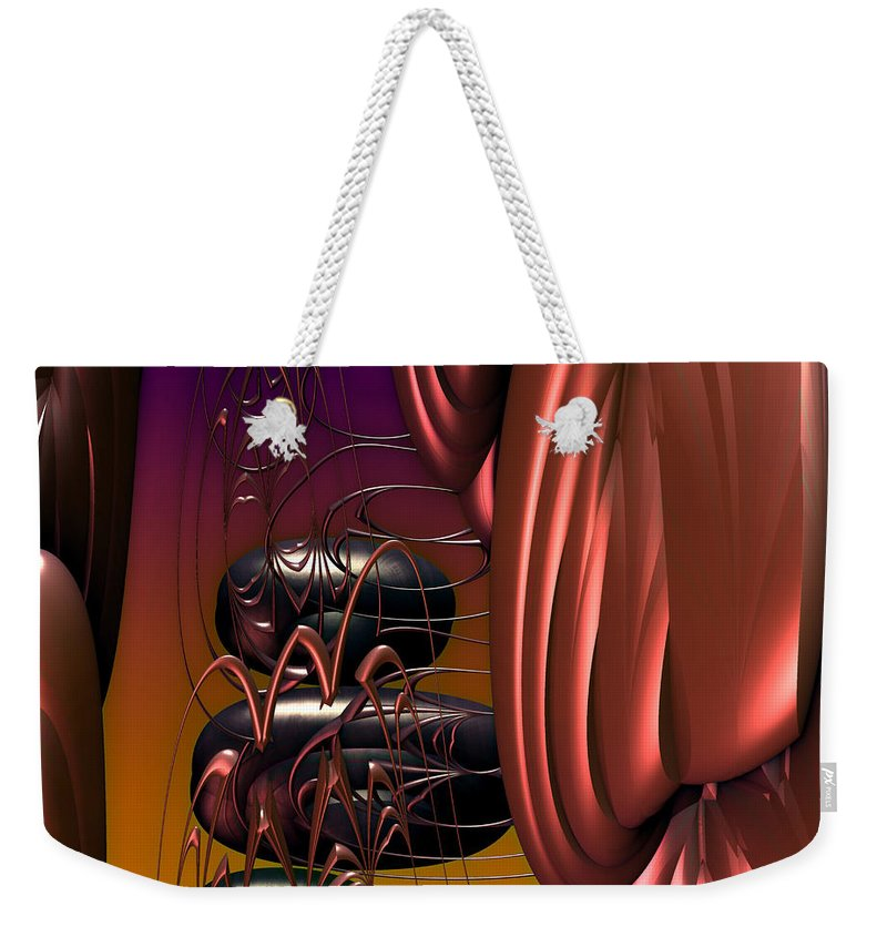 Alien Weekender Tote Bag featuring the digital art Tour Pods by Kiki Art