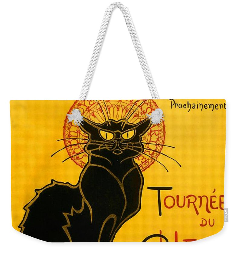 Art Nouveau Weekender Tote Bag featuring the painting Tournee Du Chat Noir by Theophile Steinlen