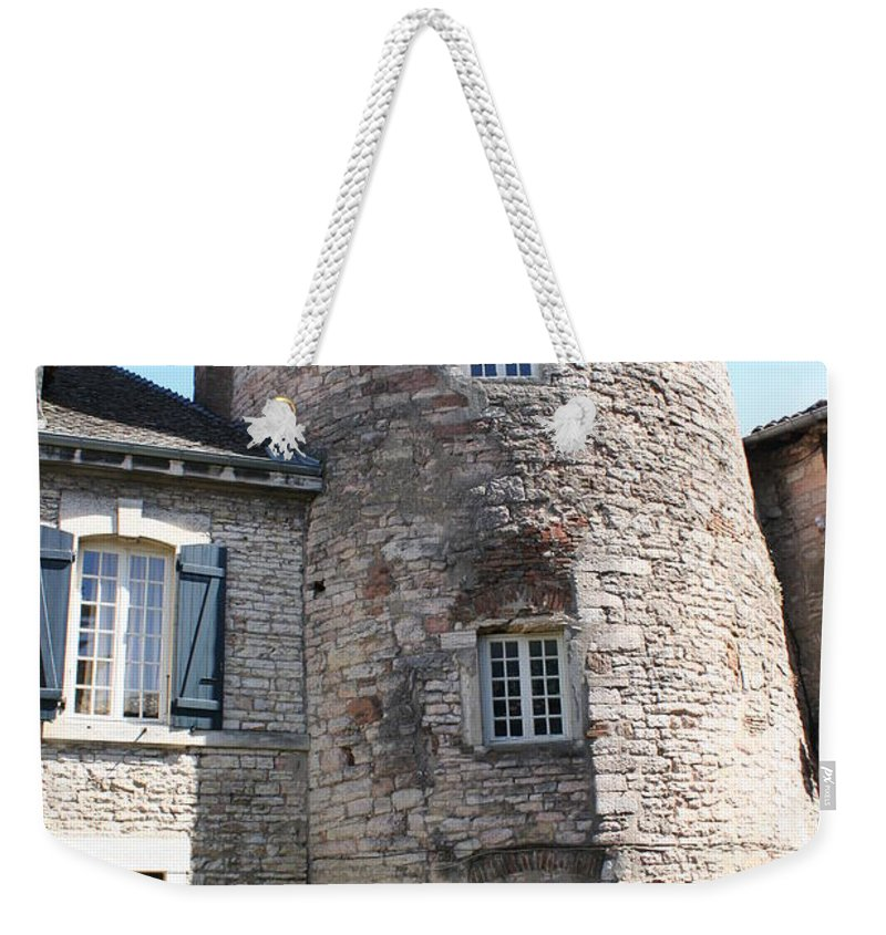 City Wall Weekender Tote Bag featuring the photograph Tournus Village by Christiane Schulze Art And Photography