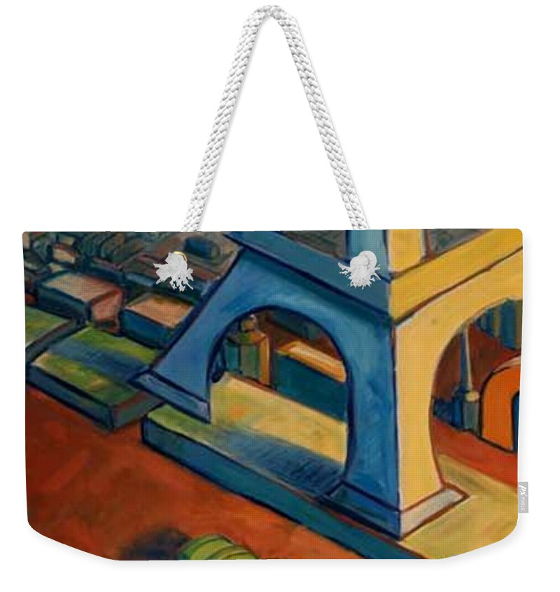 Fauves Weekender Tote Bag featuring the painting Tower And Toast by Konnie Kim