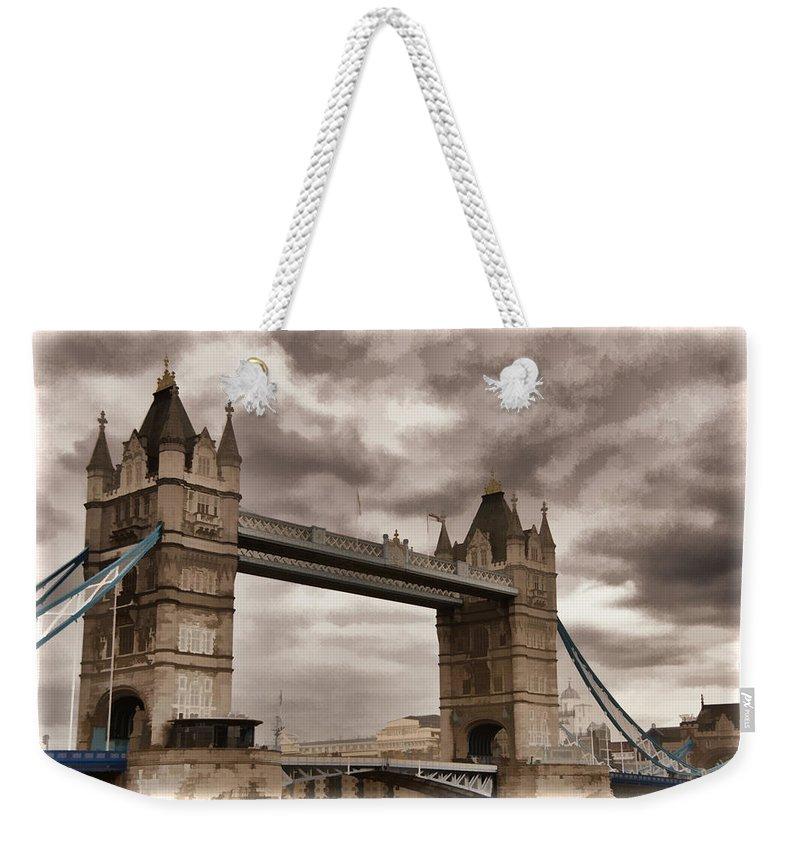 London England Weekender Tote Bag featuring the photograph Tower Bridge by Jon Berghoff