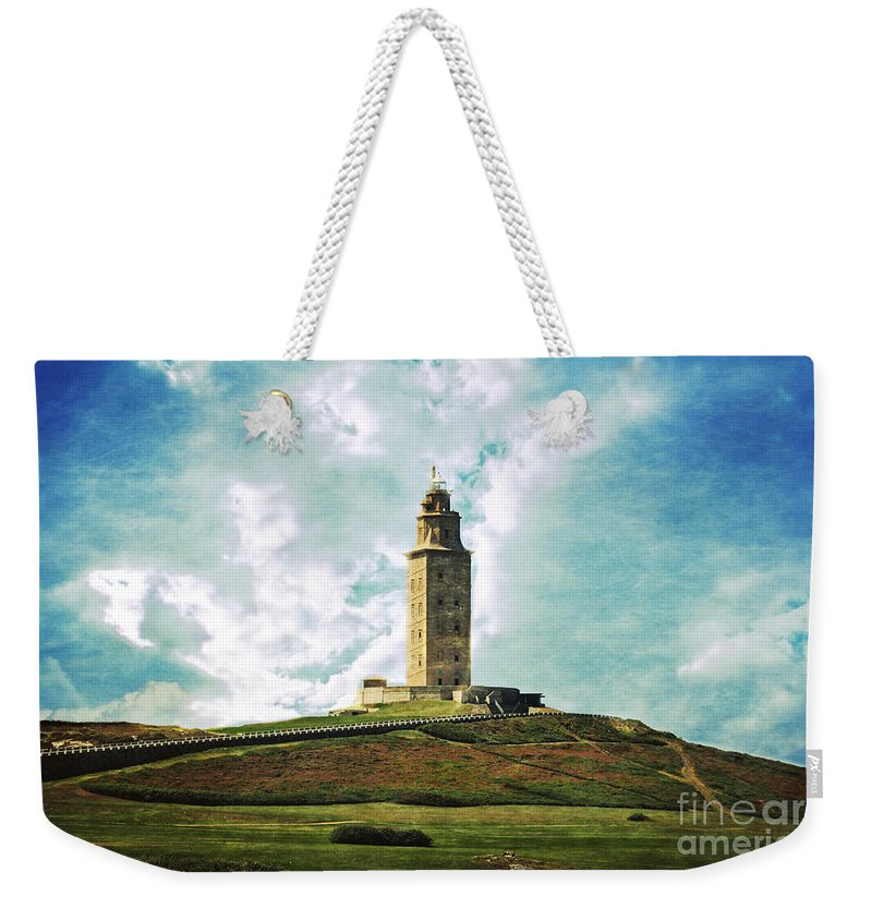 Tower Of Hercules Weekender Tote Bag featuring the photograph Tower Of Hercules La Coruna by Mary Machare