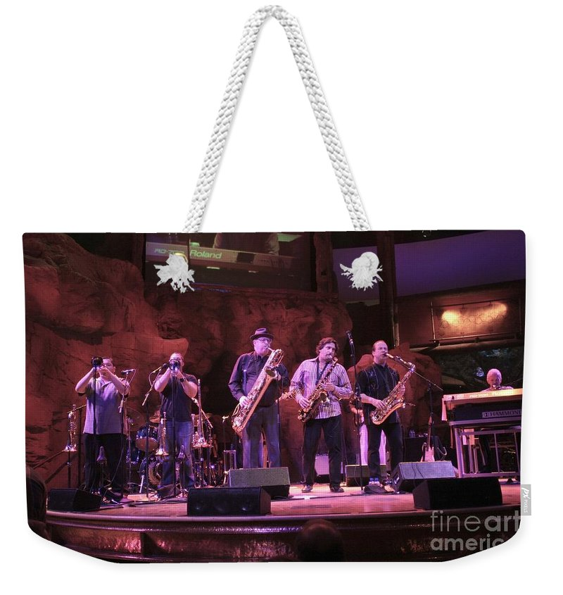 Appearance Weekender Tote Bag featuring the photograph Tower Of Power by Concert Photos