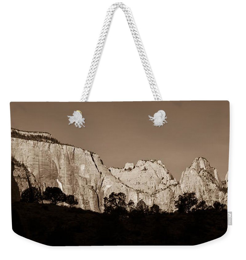 3scape Photos Weekender Tote Bag featuring the photograph Towers Of The Virgin by Adam Romanowicz