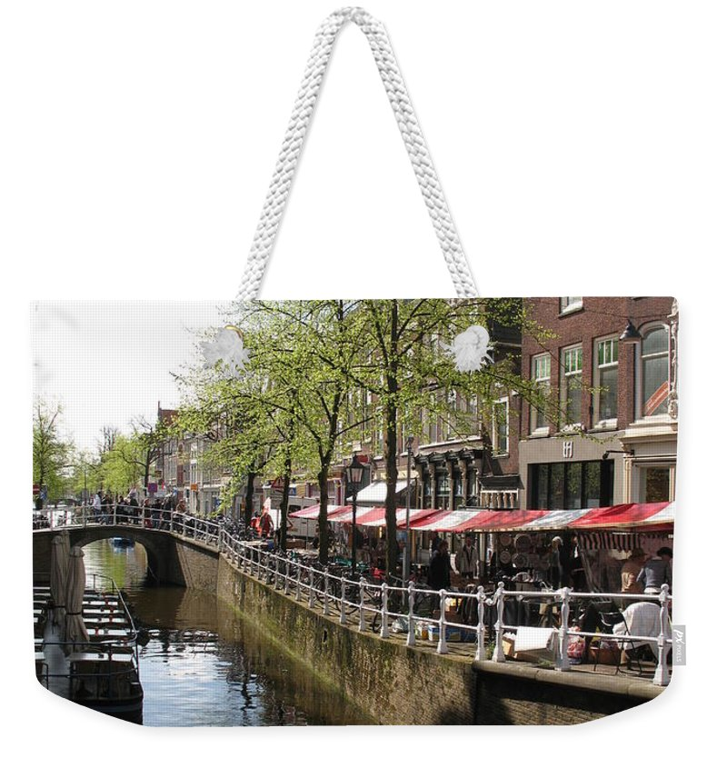 Town Canal Weekender Tote Bag featuring the photograph Town Canal - Delft by Christiane Schulze Art And Photography