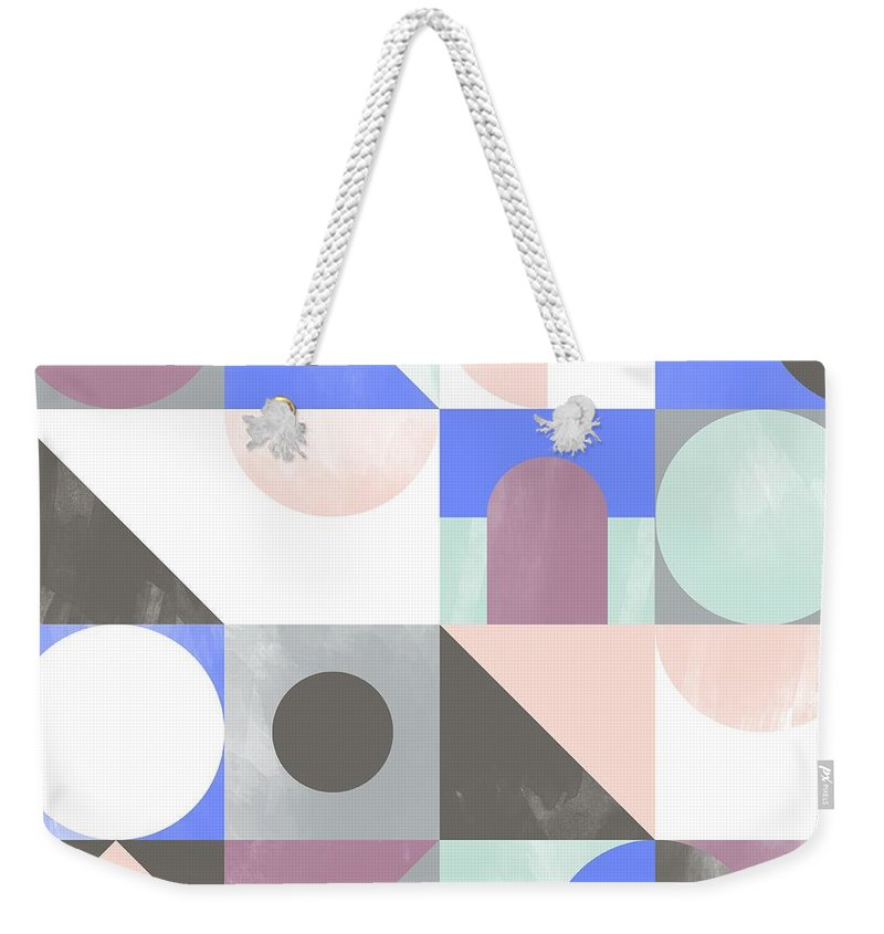 Pattern Weekender Tote Bag featuring the painting Toy Blocks by Laurence Lavallee