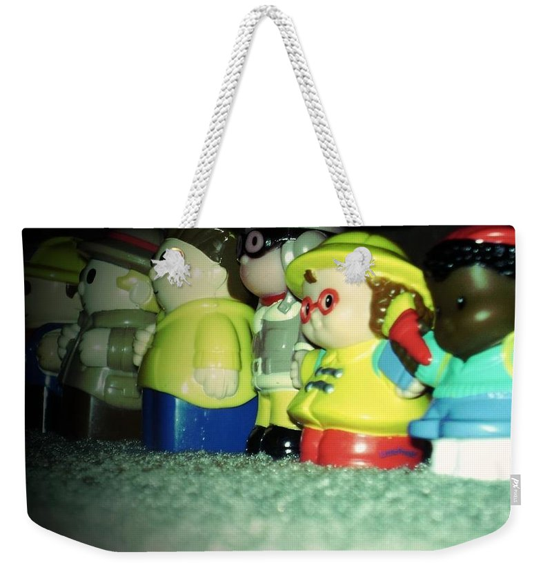 Toys Weekender Tote Bag featuring the photograph Toys In A Row by Jannice Walker