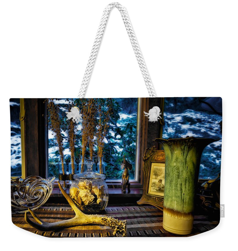 Antler Weekender Tote Bag featuring the photograph Traces by Belinda Greb