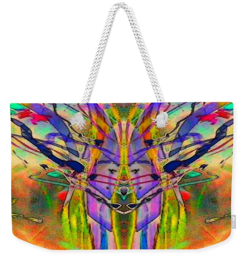 Tracings4 Weekender Tote Bag featuring the digital art Tracings4 by D Preble