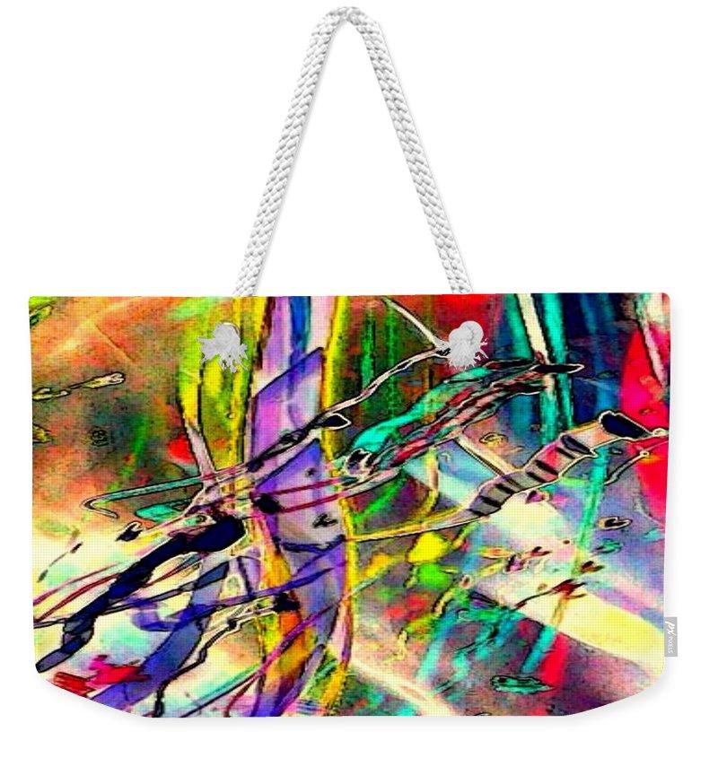 Tracings5 Weekender Tote Bag featuring the digital art Tracings5 by D Preble