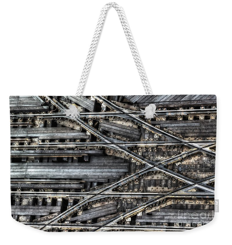 Elevated Weekender Tote Bag featuring the photograph Tracks by Margie Hurwich