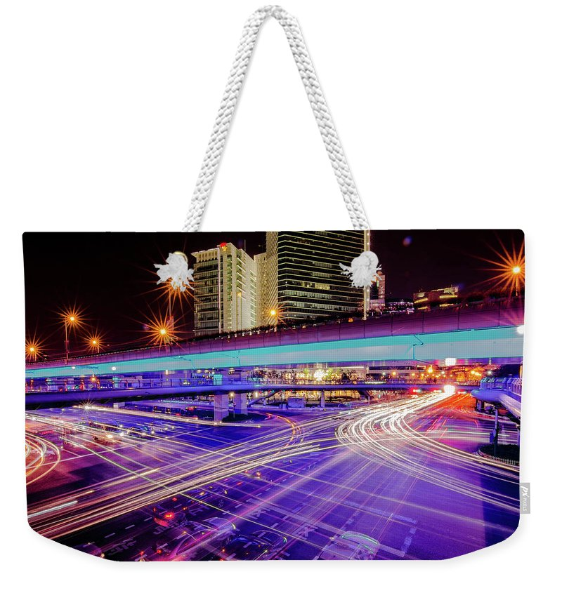 Outdoors Weekender Tote Bag featuring the photograph Tracks Of Light 02 by Welcome To Buy The Image If You Like It!
