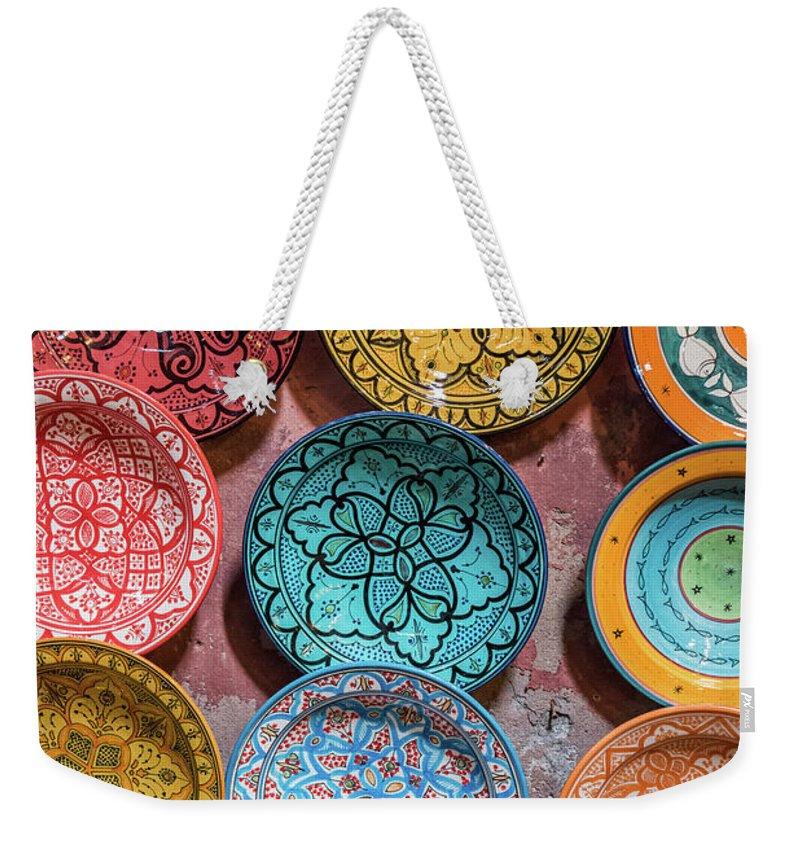 Art Weekender Tote Bag featuring the photograph Traditional Ceramic Moroccan by Guyberresfordphotography