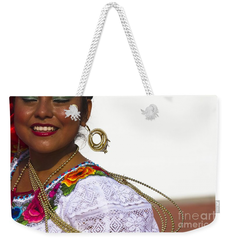 Chiapas Weekender Tote Bag featuring the photograph Traditional Ethnic Dancers In Chiapas Mexico by David Smith