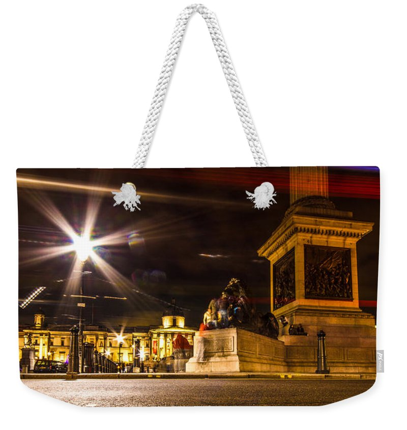 London Weekender Tote Bag featuring the photograph Trafalgar Square by Dawn OConnor