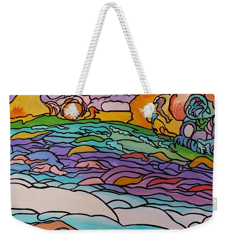 Tragic Weekender Tote Bag featuring the painting Tragic by Barbara St Jean