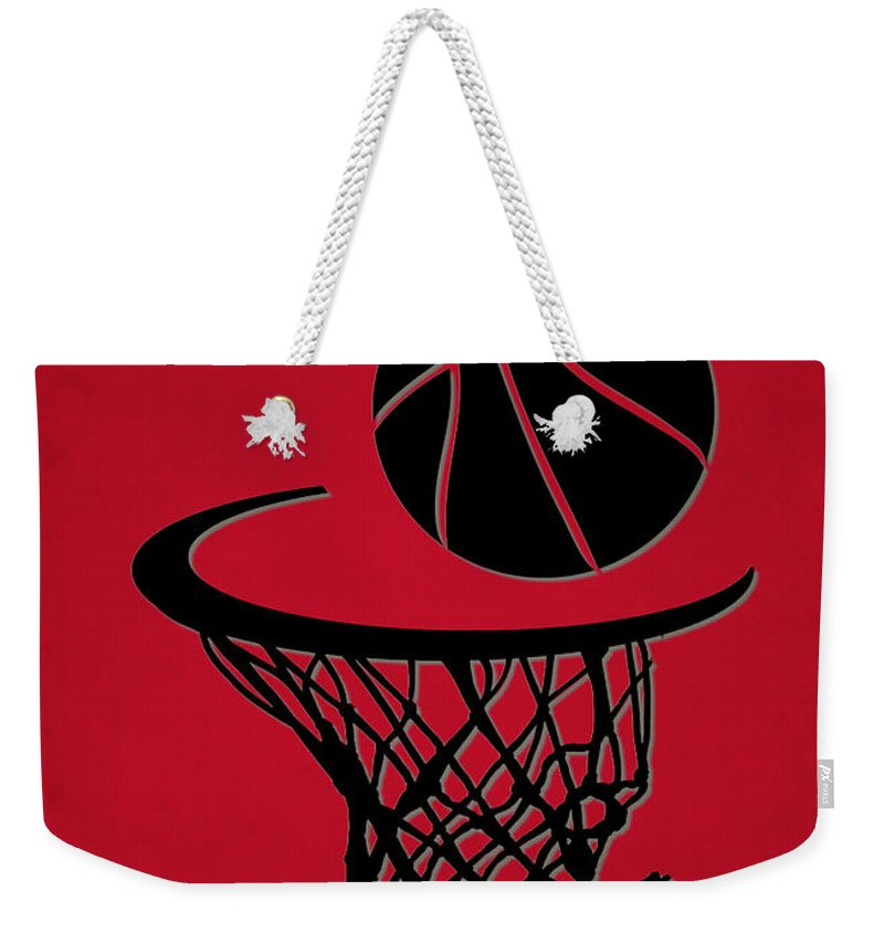 Trail Blazers Weekender Tote Bag featuring the photograph Trail Blazers Team Hoop2 by Joe Hamilton