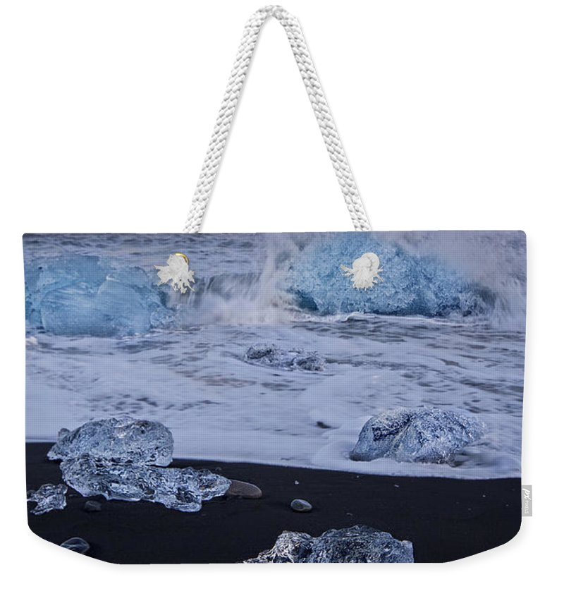 J�kuls�rl�n Weekender Tote Bag featuring the photograph Trail Of Diamonds by Evelina Kremsdorf