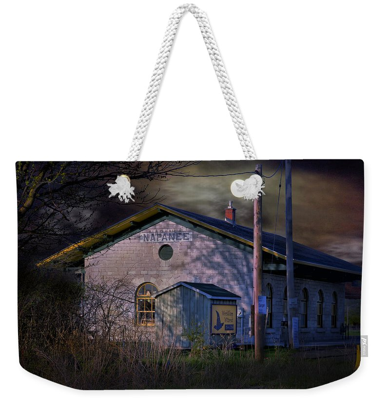 Weekender Tote Bag featuring the photograph Train Station By Hmi Light by John Herzog