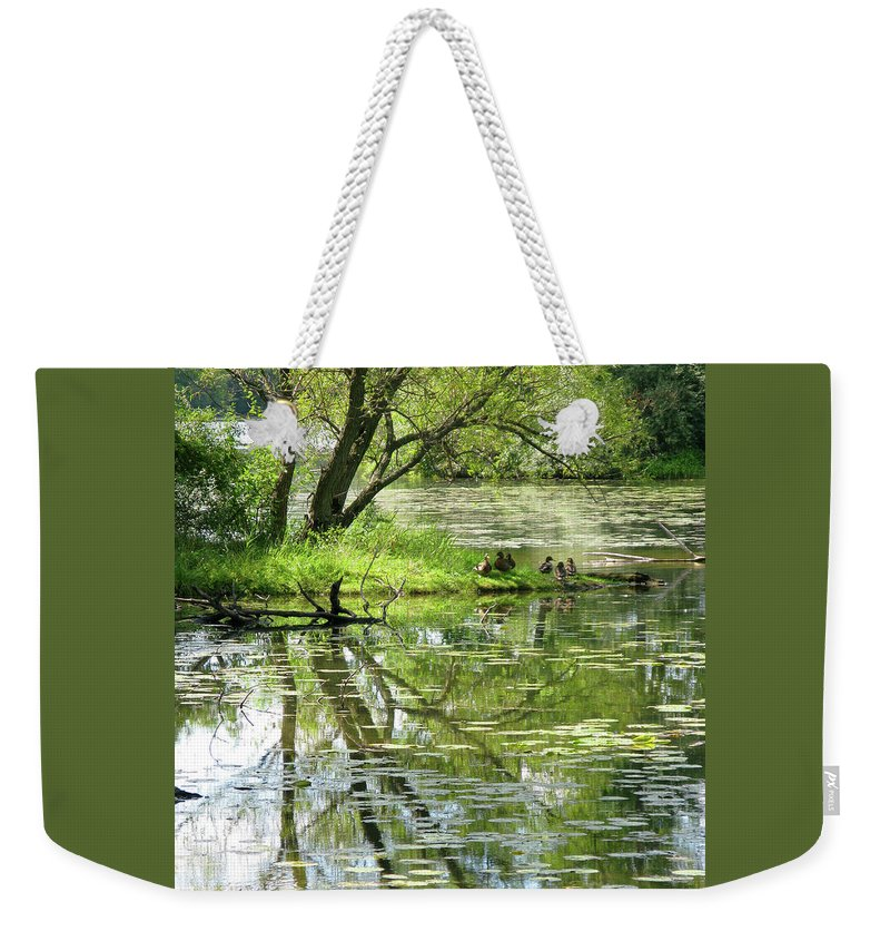 Reflection Weekender Tote Bag featuring the photograph Tranquility by Ann Horn