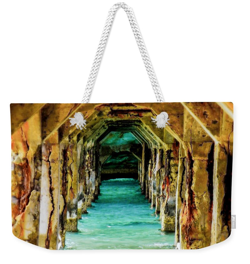 Waterscapes Weekender Tote Bag featuring the photograph Tranquility Below by Karen Wiles