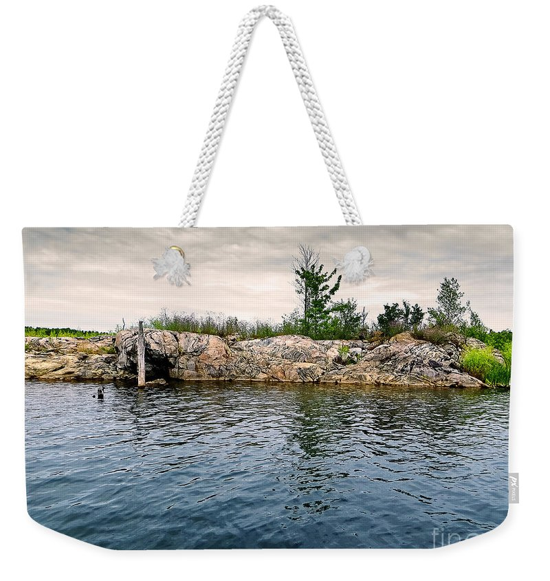 Peaceful Weekender Tote Bag featuring the photograph Tranquility by Gwen Gibson