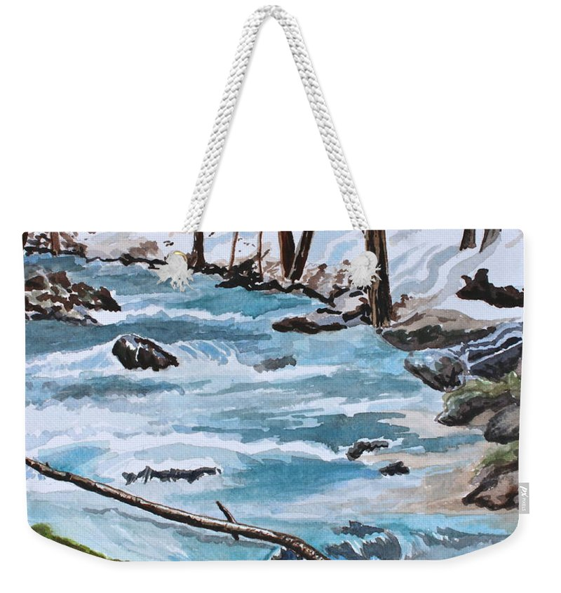 Water Weekender Tote Bag featuring the painting Tranquility by Tricia Lesky